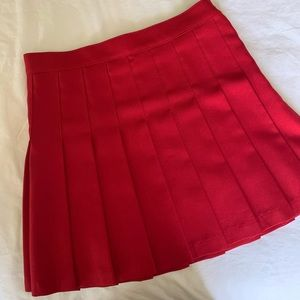 American apparel pleated miniskirt